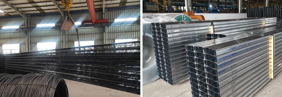 优势及其应用   1.闭口型压型板的应用   闭口型压型钢板被广泛应用于大量的工程中,尤其是钢结构的超高层办公楼项目中。因为在超高层办公楼中,使用荷载均在5.0KN/m2之下,次梁的间距在3米左右,楼板总厚在120mm或130mm左右,在此工况下,闭口板是最优的选择。不需要加临时支撑,可以代替板底钢筋,作为组合楼板承担受力,耐火性能优,并且不需要防火涂料,施工方便。所以,该板型得到了广大业主和设计师的青睐,在北京上海、天津、南京、杭州、长春、无锡等一二线城市被广泛应用。   闭口板对于办公楼一类的高层建筑